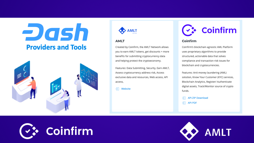 Major Cryptocurrency Dash publicly lists AMLT Token Network